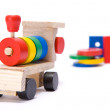 Colorful toy train — Stock Photo #1726130