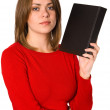 Woman with book — Stock Photo #1740046