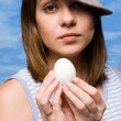 Girl with egg — Stock Photo #1740270