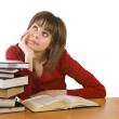 Student with books — Stock Photo #1744364