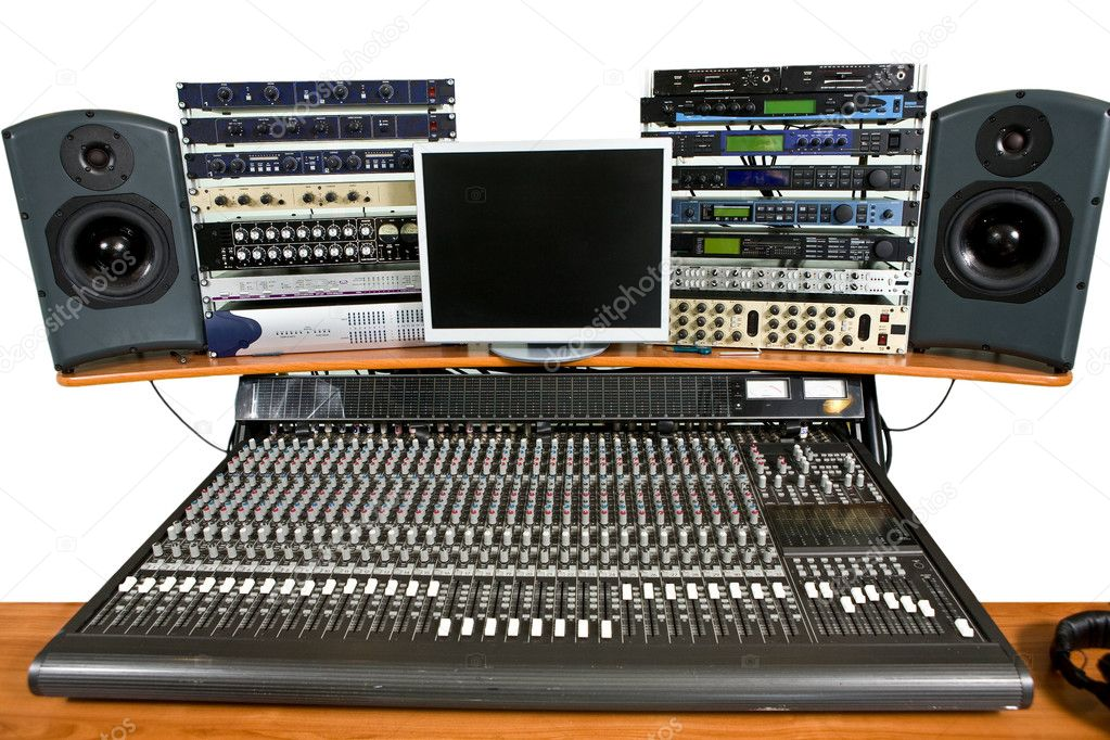 Isolated studio recording equipment  Stock Photo #1744428