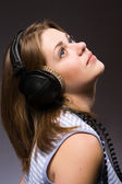 Music girl — Stockfoto