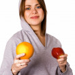 Woman with fruits — Stock Photo #1900868