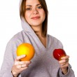 Woman with fruits — Stock Photo #1902129