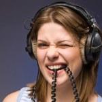 Woman with headphones — Stock Photo #1902161