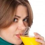 Woman drinking juice — Stock Photo #1902181