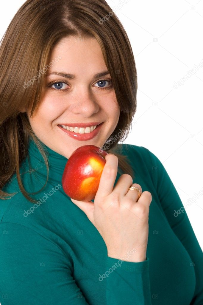 Woman with fruit — Stock Photo #1902209
