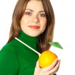 Woman with fruit — Stock Photo #2396738