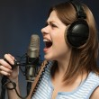 Stock Photo: Singing momen