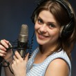 Singing momen — Stock Photo