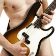 Bass player — Stock Photo
