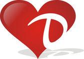 Heart D — Stock Vector