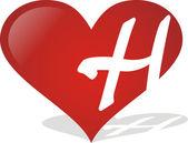 Heart H — Stockvektor