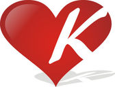 Heart K — Stock Vector