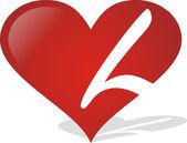 Heart L — Stock Vector
