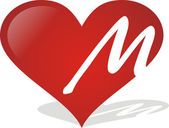 Heart M — Stock Vector