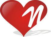 Heart N — Stock Vector