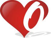 Heart O — Stock Vector