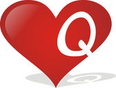Heart Q — Stock Vector