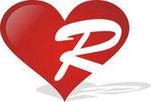 Heart R — Stock Vector