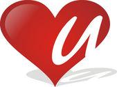 Heart U — Stock Vector