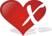 Heart X — Stock Vector