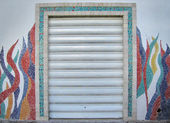 Drzwi mozaika — Zdjęcie stockowe
