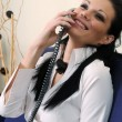 Beautiful girl on the phone — Stock Photo