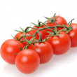 Tomato with white background - Stock Photo