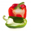 Red and green peppers - Stock Photo
