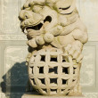 Stock Photo: Traditional Chinese stone lion