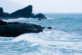 Rocky Seacoast with wave — Stock Photo