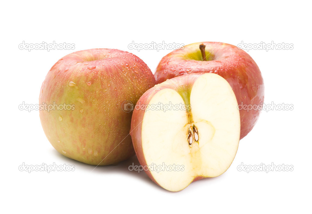 Isolated fresh apple fruit on white background  Foto de Stock   #1816053