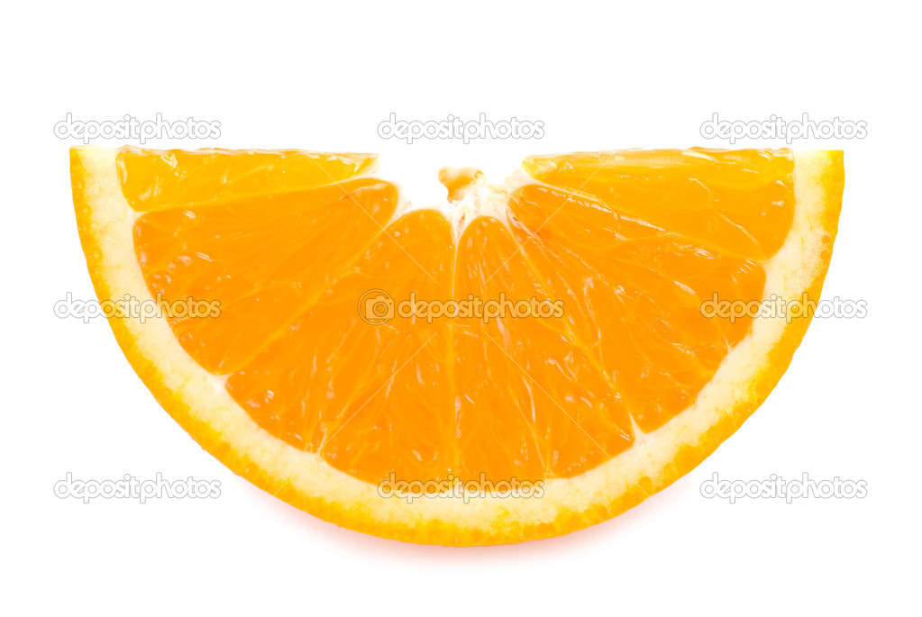 Piece of fresh orange fruit on white background — Stock Photo #1816095