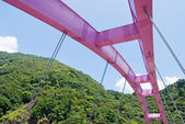 Pink arch bridge — Stock Photo