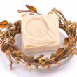 Isolated delicate handmade soap — Stock Photo
