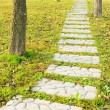 Stone walkway in park — Stock Photo