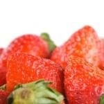 Isolated pile strawberry — Stock Photo
