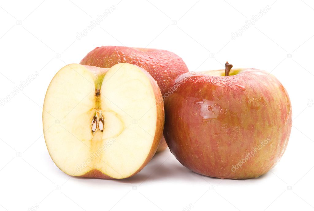 Isolated fresh apple fruit on white background — Stock Photo #2564207