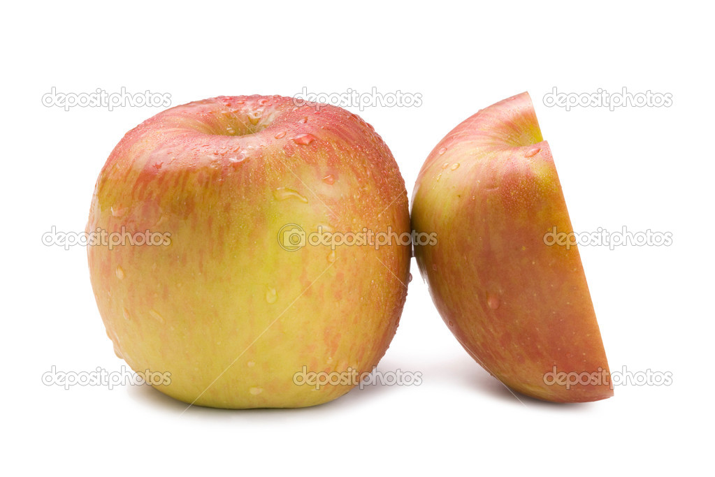 Isolated fresh apple fruit on white background — Stock Photo #2564211