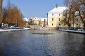 Mill pond of Tapolca — Stock Photo