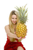 Long hair blonde pineapple — Stock Photo