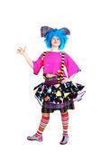 Clown with blue hair — Stock Photo