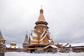 Cremlino è in izmaylovo, chiesa in legno — Foto Stock