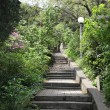 Stairs in the park of Kharaks - Stock Photo