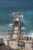 Construction ashore the Black sea — Stock Photo