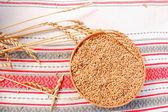 Bowl of grain — Stock Photo