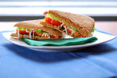 Fresh Vegetarian sandwich — Stock Photo