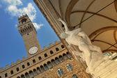 Piazza della Signoria, Tuscany-Italy — Stock Photo
