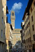 Náměstí piazza della signoria, toskánsko itálie — Stock fotografie